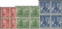 AUS SG219-21 Newcastle set of 3 blocks of 4